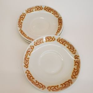 Vitrified WH Grindley England CARAVELLE  Saucers